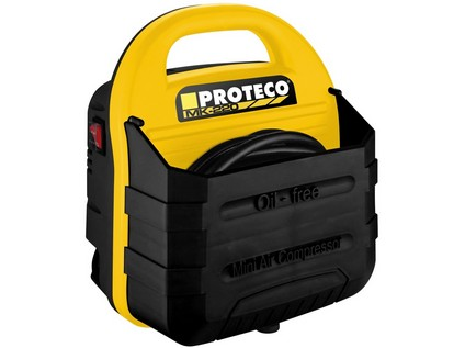 Proteco kompresor bezolejový mini 220-240V, 1.1kW, 8bar + adaptéry